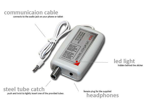 tube catch, headphones jack, communication cable, snor device anti-snore technology cure, treat snore device